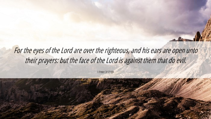 Picture 06 - 1 Peter 3:12 KJV 4K Wallpaper - For the eyes of the Lord are over the righteous, - 4K Wallpaper Bible Verse