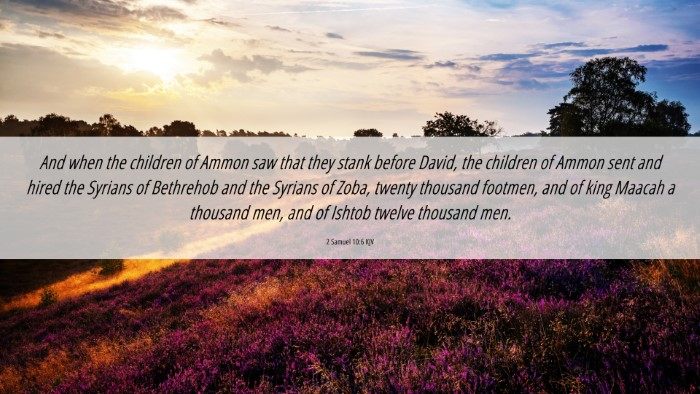 Picture 06 - 2 Samuel 10:6 KJV 4K Wallpaper - And when the children of Ammon saw that they - 4K Wallpaper Bible Verse
