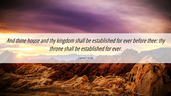 Picture 06 - 2 Samuel 7:16 KJV 4K Wallpaper - And thine house and thy kingdom shall be - 4K Wallpaper Bible Verse
