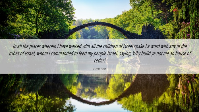Picture 06 - 2 Samuel 7:7 KJV 4K Wallpaper - In all the places wherein I have walked with all - 4K Wallpaper Bible Verse