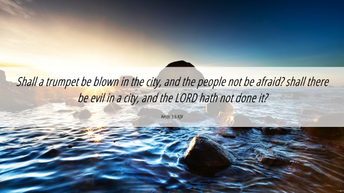 Picture 06 - Amos 3:6 KJV 4K Wallpaper - Shall a trumpet be blown in the city, and the - 4K Wallpaper Bible Verse