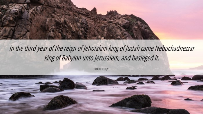 Picture 06 - Daniel 1:1 KJV 4K Wallpaper - In the third year of the reign of Jehoiakim king - 4K Wallpaper Bible Verse