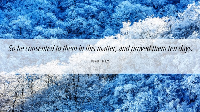 Picture 06 - Daniel 1:14 KJV 4K Wallpaper - So he consented to them in this matter, and - 4K Wallpaper Bible Verse
