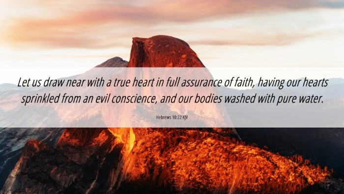 Picture 06 - Hebrews 10:22 KJV 4K Wallpaper - Let us draw near with a true heart in full - 4K Wallpaper Bible Verse