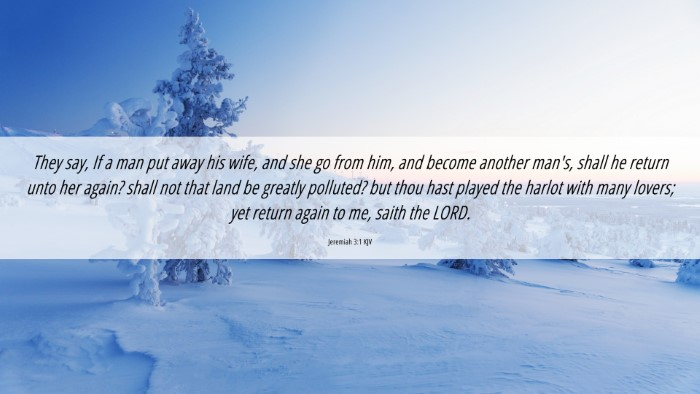 Picture 06 - Jeremiah 3:1 KJV 4K Wallpaper - They say, If a man put away his wife, and she go - 4K Wallpaper Bible Verse