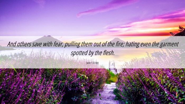 Picture 06 - Jude 1:23 KJV 4K Wallpaper - And others save with fear, pulling them out of - 4K Wallpaper Bible Verse