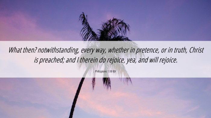 Picture 06 - Philippians 1:18 KJV 4K Wallpaper - What then? notwithstanding, every way, whether in - 4K Wallpaper Bible Verse