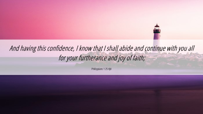 Picture 06 - Philippians 1:25 KJV 4K Wallpaper - And having this confidence, I know that I shall - 4K Wallpaper Bible Verse