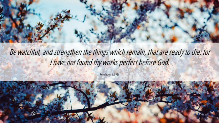Picture 06 - Revelation 3:2 KJV 4K Wallpaper - Be watchful, and strengthen the things which - 4K Wallpaper Bible Verse