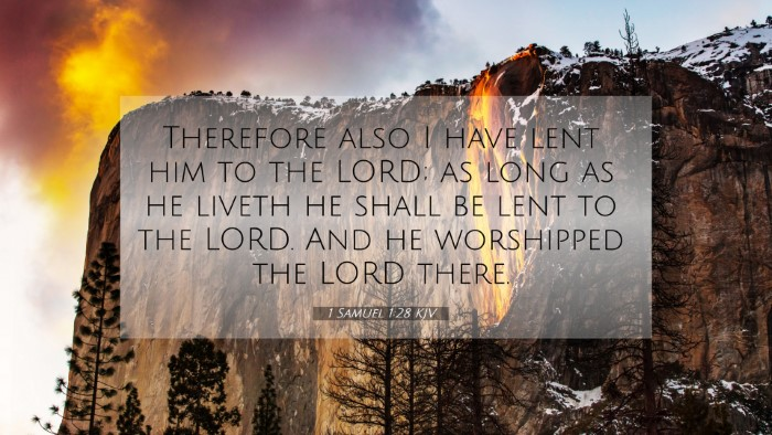Picture 07 - 1 Samuel 1:28 KJV 4K Wallpaper - Therefore also I have lent him to the LORD; as - 4K Wallpaper Bible Verse