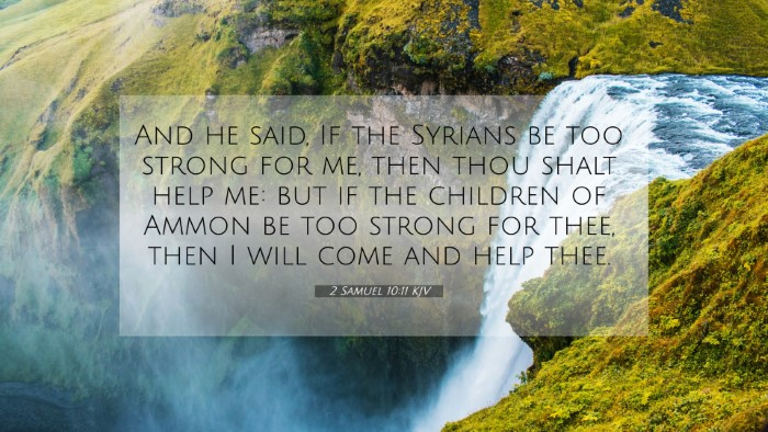 Picture 07 - 2 Samuel 10:11 KJV 4K Wallpaper - And he said, If the Syrians be too strong for me, - 4K Wallpaper Bible Verse