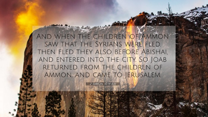 Picture 07 - 2 Samuel 10:14 KJV 4K Wallpaper - And when the children of Ammon saw that the - 4K Wallpaper Bible Verse