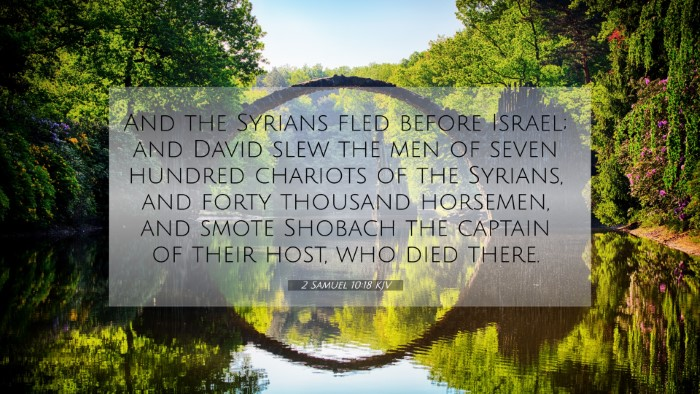 Picture 07 - 2 Samuel 10:18 KJV 4K Wallpaper - And the Syrians fled before Israel; and David - 4K Wallpaper Bible Verse