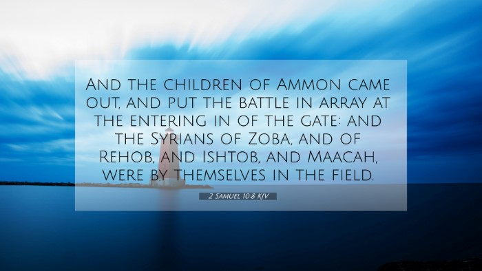 Picture 07 - 2 Samuel 10:8 KJV 4K Wallpaper - And the children of Ammon came out, and put the - 4K Wallpaper Bible Verse