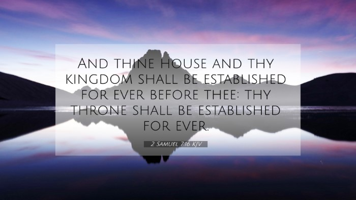 Picture 07 - 2 Samuel 7:16 KJV 4K Wallpaper - And thine house and thy kingdom shall be - 4K Wallpaper Bible Verse