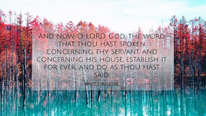 Picture 07 - 2 Samuel 7:25 KJV 4K Wallpaper - And now, O LORD God, the word that thou hast - 4K Wallpaper Bible Verse