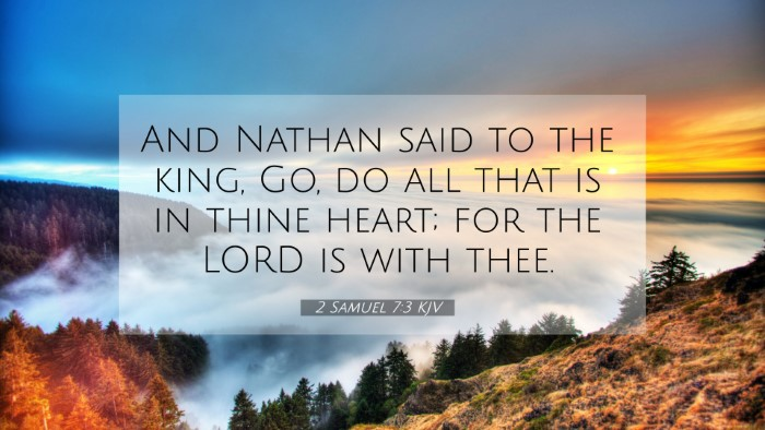 Picture 07 - 2 Samuel 7:3 KJV 4K Wallpaper - And Nathan said to the king, Go, do all that is - 4K Wallpaper Bible Verse
