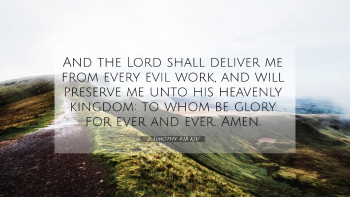 Picture 07 - 2 Timothy 4:18 KJV 4K Wallpaper - And the Lord shall deliver me from every evil - 4K Wallpaper Bible Verse