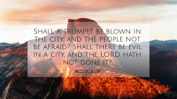 Picture 07 - Amos 3:6 KJV 4K Wallpaper - Shall a trumpet be blown in the city, and the - 4K Wallpaper Bible Verse