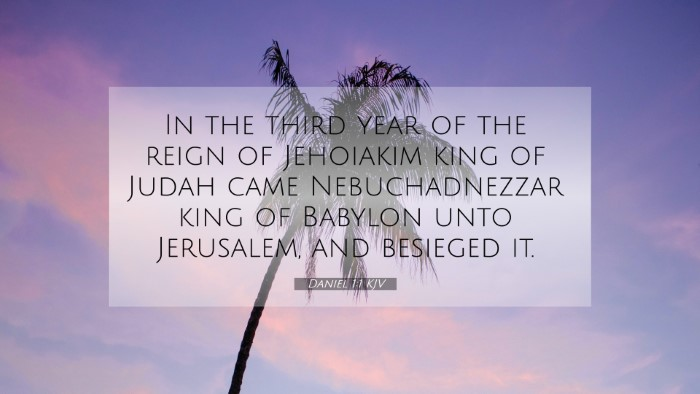 Picture 07 - Daniel 1:1 KJV 4K Wallpaper - In the third year of the reign of Jehoiakim king - 4K Wallpaper Bible Verse