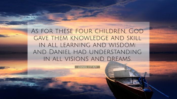 Picture 07 - Daniel 1:17 KJV 4K Wallpaper - As for these four children, God gave them - 4K Wallpaper Bible Verse