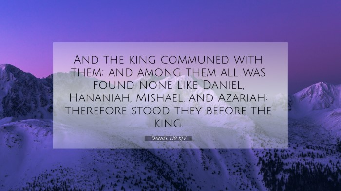 Picture 07 - Daniel 1:19 KJV 4K Wallpaper - And the king communed with them; and among them - 4K Wallpaper Bible Verse