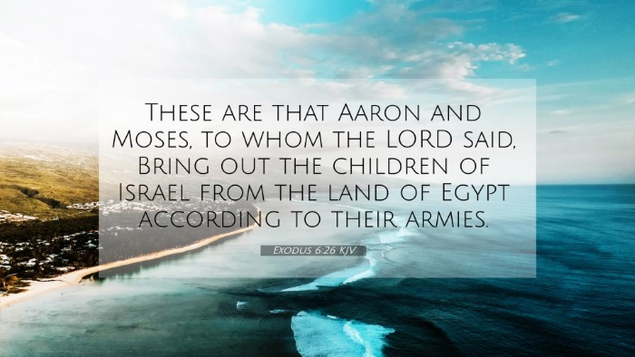 Picture 07 - Exodus 6:26 KJV 4K Wallpaper - These are that Aaron and Moses, to whom the LORD - 4K Wallpaper Bible Verse