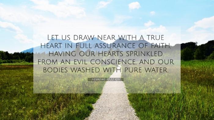 Picture 07 - Hebrews 10:22 KJV 4K Wallpaper - Let us draw near with a true heart in full - 4K Wallpaper Bible Verse