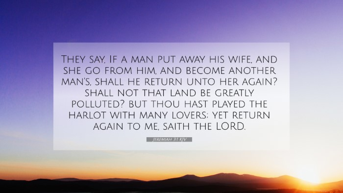 Picture 07 - Jeremiah 3:1 KJV 4K Wallpaper - They say, If a man put away his wife, and she go - 4K Wallpaper Bible Verse