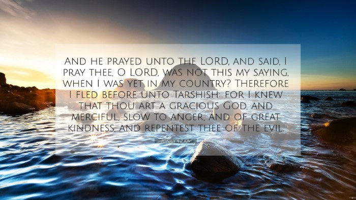 Picture 07 - Jonah 4:2 KJV 4K Wallpaper - And he prayed unto the LORD, and said, I pray - 4K Wallpaper Bible Verse