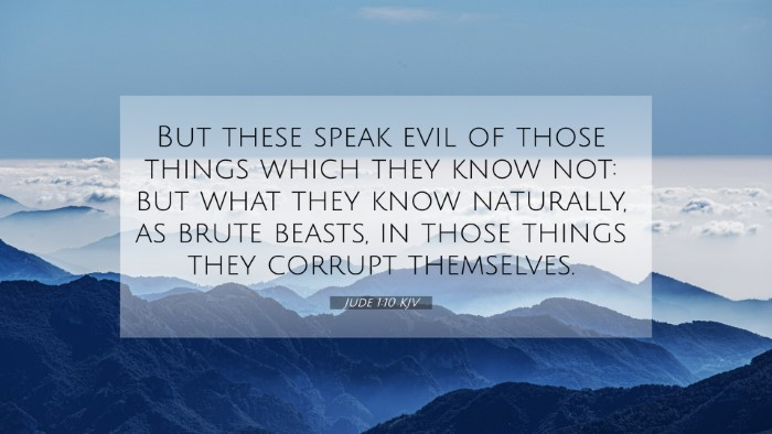 Picture 07 - Jude 1:10 KJV 4K Wallpaper - But these speak evil of those things which they - 4K Wallpaper Bible Verse
