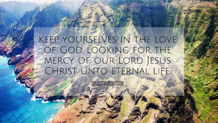 Picture 07 - Jude 1:21 KJV 4K Wallpaper - Keep yourselves in the love of God, looking for - 4K Wallpaper Bible Verse