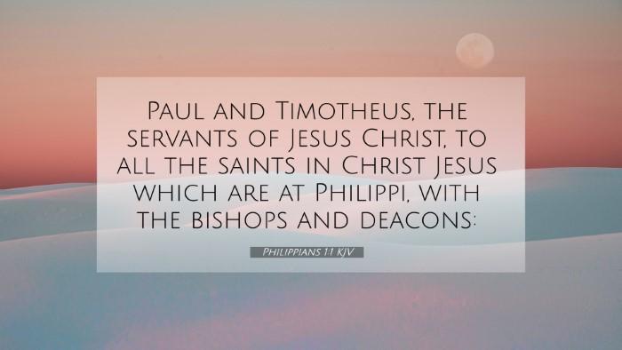 Picture 07 - Philippians 1:1 KJV 4K Wallpaper - Paul and Timotheus, the servants of Jesus Christ, - 4K Wallpaper Bible Verse