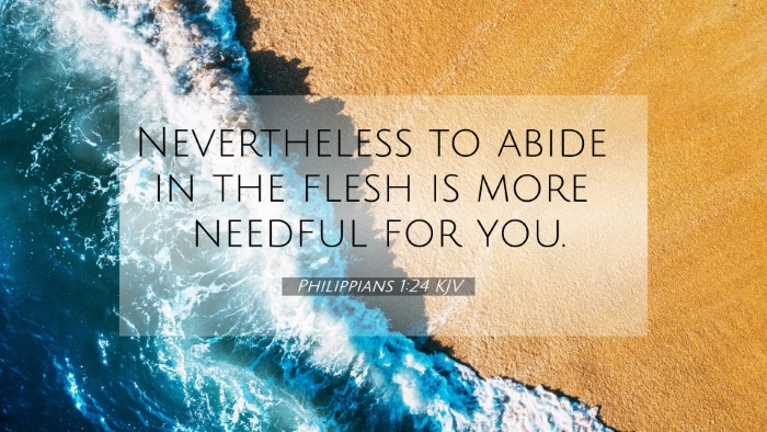 Picture 07 - Philippians 1:24 KJV 4K Wallpaper - Nevertheless to abide in the flesh is more - 4K Wallpaper Bible Verse