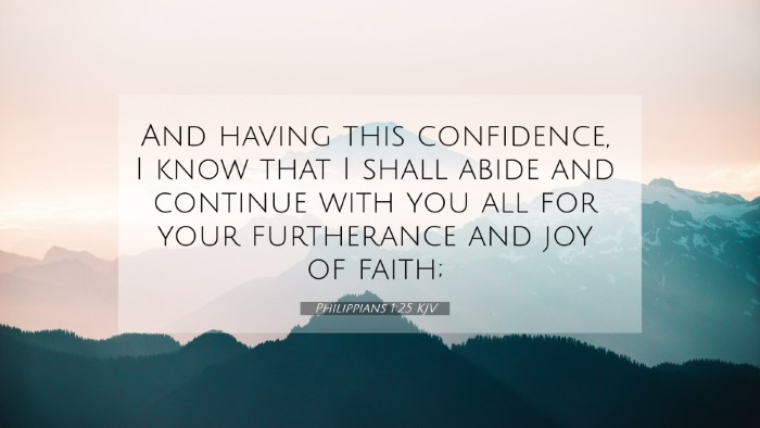 Picture 07 - Philippians 1:25 KJV 4K Wallpaper - And having this confidence, I know that I shall - 4K Wallpaper Bible Verse