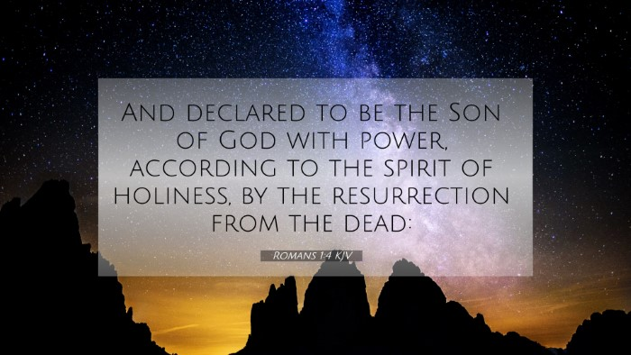 Picture 07 - Romans 1:4 KJV 4K Wallpaper - And declared to be the Son of God with power, - 4K Wallpaper Bible Verse