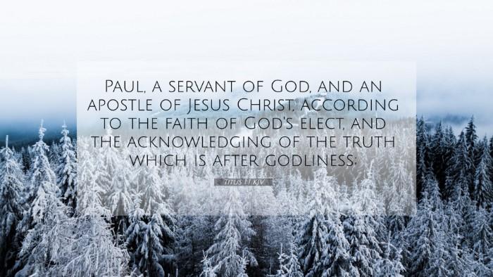 Picture 07 - Titus 1:1 KJV 4K Wallpaper - Paul, a servant of God, and an apostle of Jesus - 4K Wallpaper Bible Verse