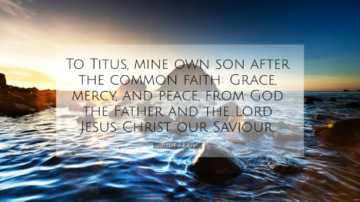 Picture 07 - Titus 1:4 KJV 4K Wallpaper - To Titus, mine own son after the common faith: - 4K Wallpaper Bible Verse