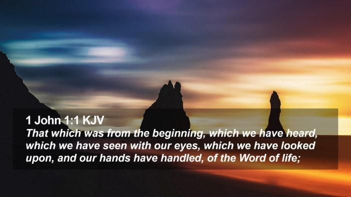 1 John 1:1 KJV Desktop Wallpaper - That which was from the beginning, which we have - Desktop Bible Verse Wallpaper