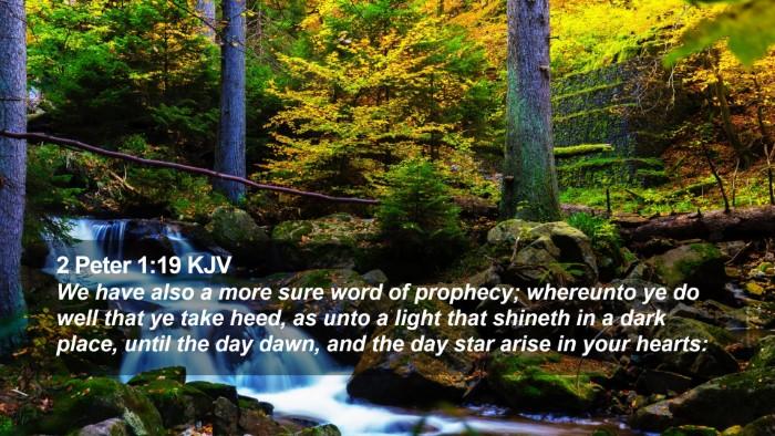 2 Peter 1:19 KJV Desktop Wallpaper - We have also a more sure word of prophecy; - Desktop Bible Verse Wallpaper