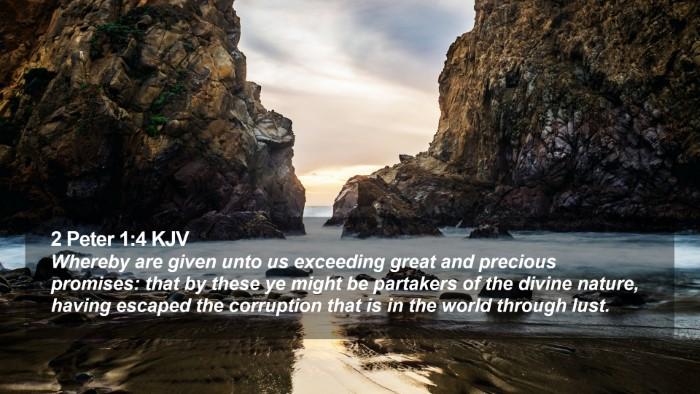 2 Peter 1:4 KJV Desktop Wallpaper - Whereby are given unto us exceeding great and - Desktop Bible Verse Wallpaper