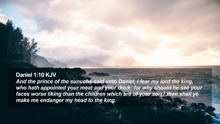 Daniel 1:10 KJV Desktop Wallpaper - And the prince of the eunuchs said unto Daniel, I - Desktop Bible Verse Wallpaper