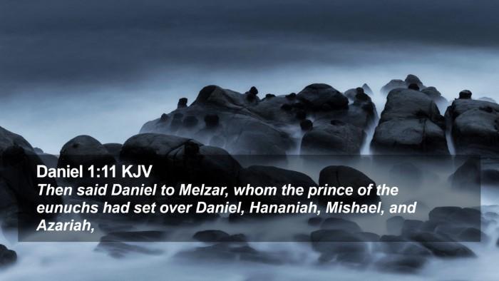 Daniel 1:11 KJV Desktop Wallpaper - Then said Daniel to Melzar, whom the prince of - Desktop Bible Verse Wallpaper