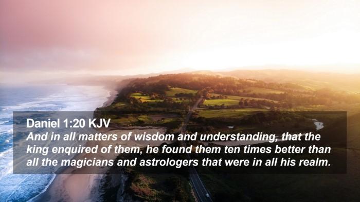 Daniel 1:20 KJV Desktop Wallpaper - And in all matters of wisdom and understanding, - Desktop Bible Verse Wallpaper