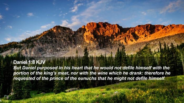 Daniel 1:8 KJV Desktop Wallpaper - But Daniel purposed in his heart that he would - Desktop Bible Verse Wallpaper