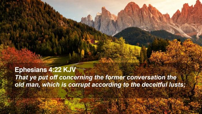 Ephesians 4:22 KJV Desktop Wallpaper - That ye put off concerning the former - Desktop Bible Verse Wallpaper