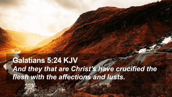 Galatians 5:24 KJV Desktop Wallpaper - And they that are Christ's have crucified the - Desktop Bible Verse Wallpaper