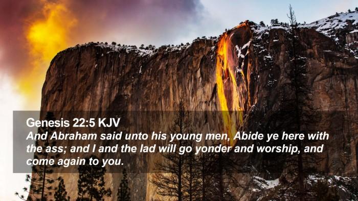 Genesis 22:5 KJV Desktop Wallpaper - And Abraham said unto his young men, Abide ye - Desktop Bible Verse Wallpaper