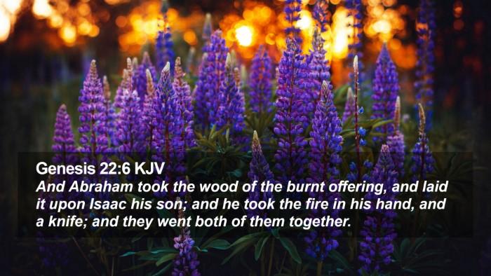 Genesis 22:6 KJV Desktop Wallpaper - And Abraham took the wood of the burnt offering, - Desktop Bible Verse Wallpaper