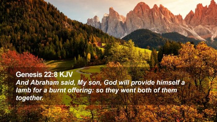 Genesis 22:8 KJV Desktop Wallpaper - And Abraham said, My son, God will provide - Desktop Bible Verse Wallpaper
